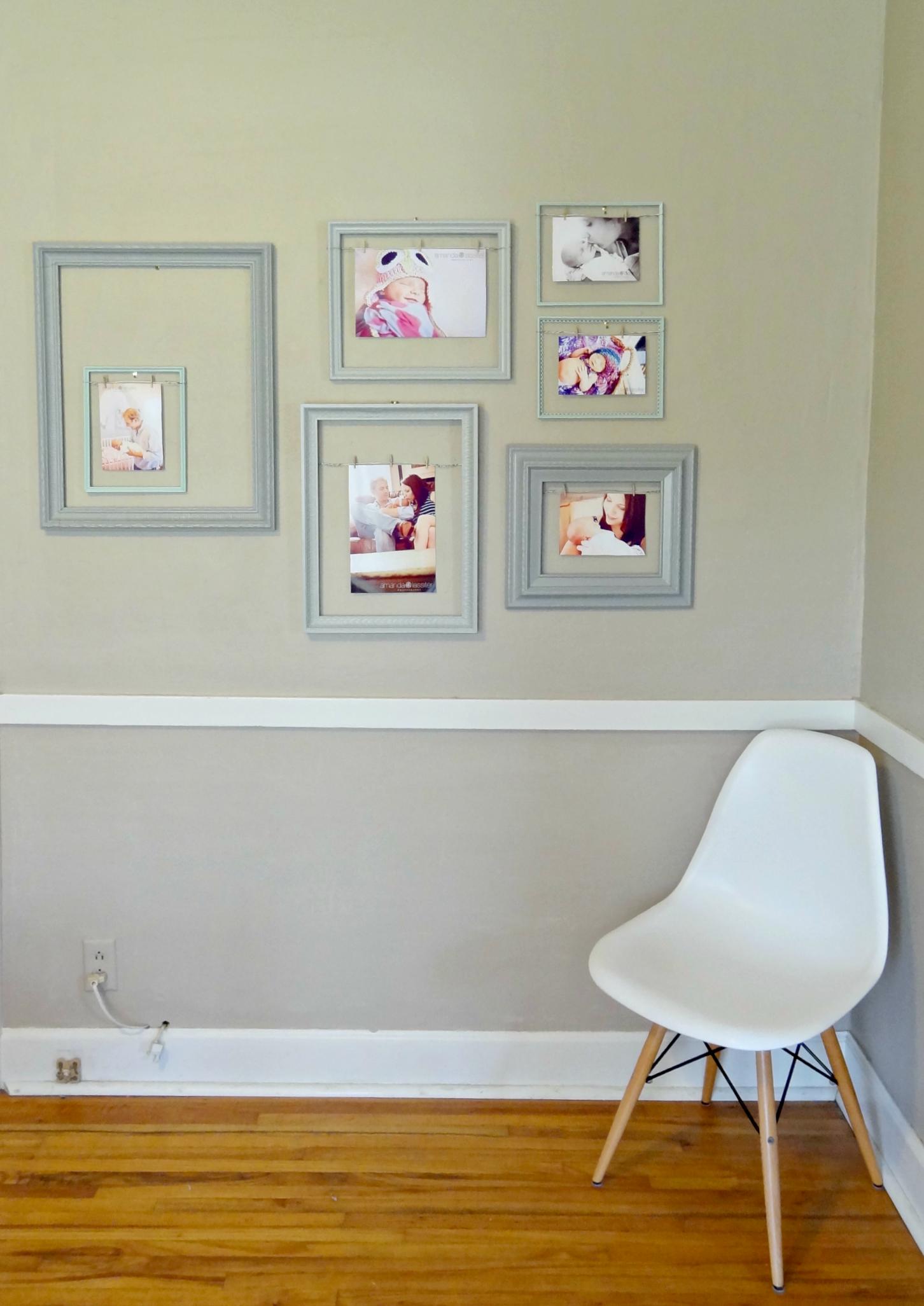 Raising Hill: Mixed Frames Gallery Wall