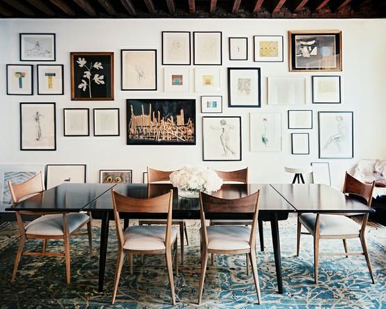 raising hill gallery wall inspiration. Black Bedroom Furniture Sets. Home Design Ideas